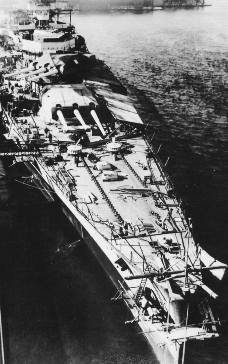 "thedevilsguard: "" 1937 Scharnhorst fitting out at Kriegsmarine Werft, Wilhelmshaven, Germany """