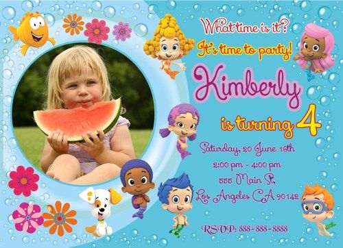 Bubble Guppies invitation, Bubble Guppiesprintable