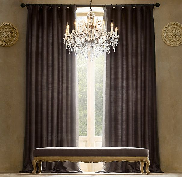 122 best images about window treatments on pinterest for Restoration hardware window shades