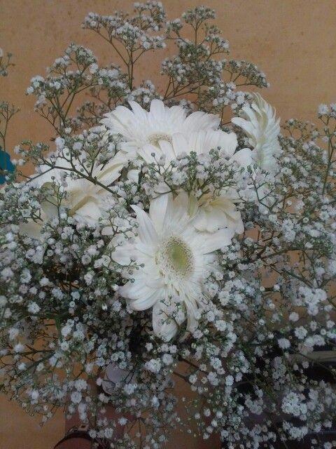 Maxi ramo de paniculata y gerberas