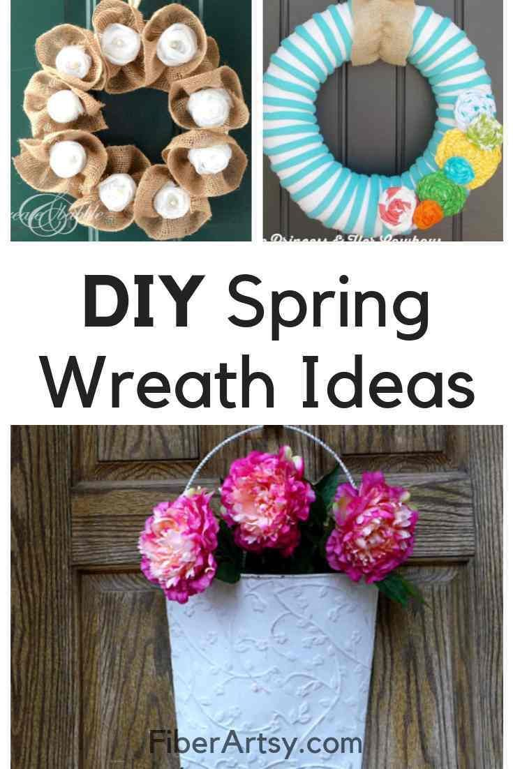 Diy Wreath Ideas For Spring Diy Spring Wreath Diy Wreath