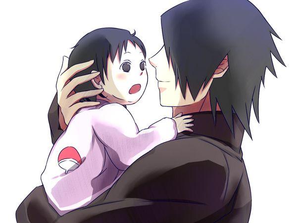 Sasuke and baby Sarada.   - Naruto   Pinterest   Naruto ...