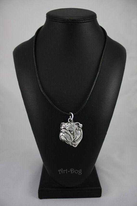 Bulldog dog necklace limited edition ArtDog by ArtDogshopcenter
