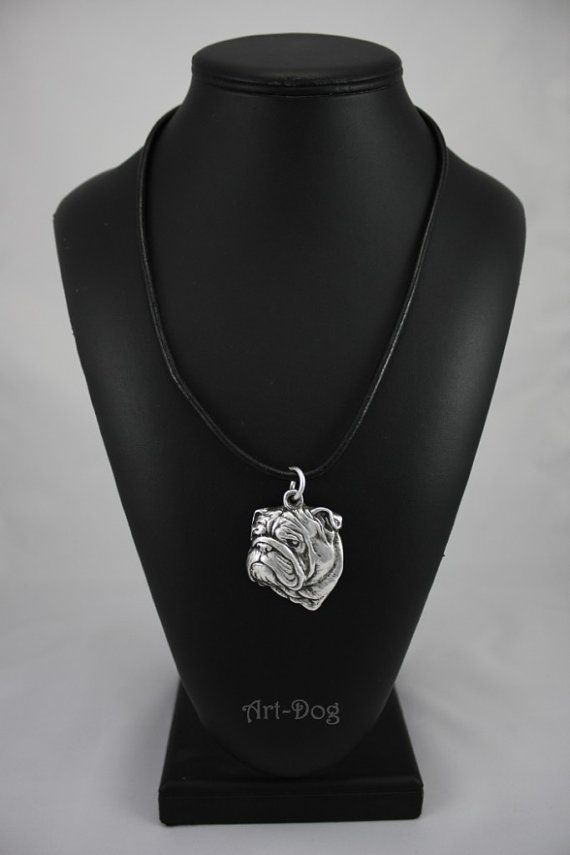 Bulldog dog necklace limited edition ArtDog by ArtDogshopcenter