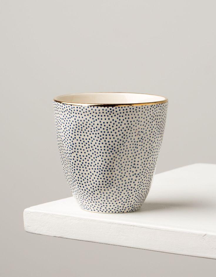 PLAIN COFFEE dot mugg | Mugs/cups | muggar och skålar | Glas & Porslin | Inredning | Indiska.com