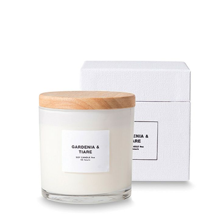 Gardenia & Tiare Soy Candle with Wooden Lid by Citta Design ...
