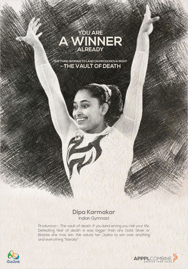 The third woman to land on #Produnova right - The Vault Of Death. You are a #Winner already, #DipaKarmakar  We wish you all the best for the #Finals!