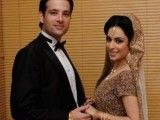 Mikaal Zulfiqar with his wife Sara Bhatti Picture