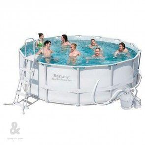 piscina de plastico redonda con filtro