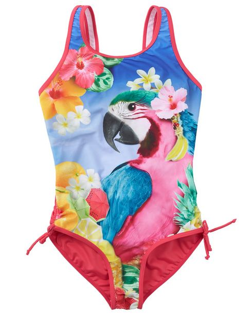 Farmers have brought in their Summer range of Swimsuits for girls, gorgeous bright colours - This Wavetribe one-piece is $29.99