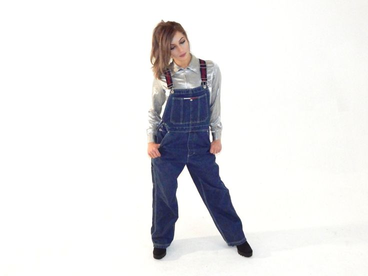vtg 90s Tommy Hilfiger Denim Overalls womens 1990s tommy jeans by GLITTERSTREET on Etsy