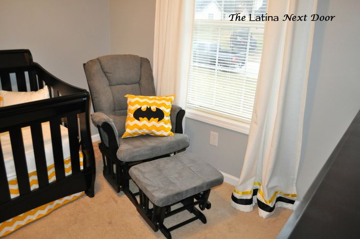 Grey, Yellow, Black & White Batman Nursery