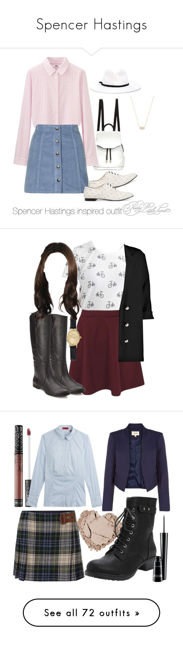 """""""Spencer Hastings"""" by xxoxxo-76 ❤ liked on Polyvore featuring rag & bone, Uniqlo, Topshop, Tod's, Forte Forte, Kendra Scott, bags, handbags, bolsas and purses"""