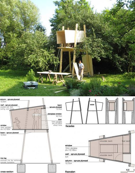 tree house plans drawings