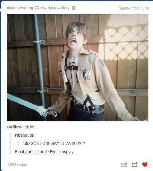 eren cosplay | True Eren Cosplay TITANS ARE MY TRIGGER!!