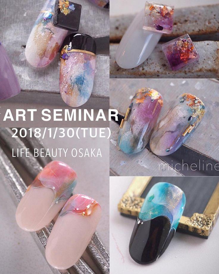 いいね!987件、コメント4件 ― Misaki Maruyamaさん(@micheline_nail)のInstagramアカウント: 「_______________ 久々のアートセミナーです(^ ^) micheline.ART SEMINAR!! ■2018.1.30(火) ■10:30〜13:30…」