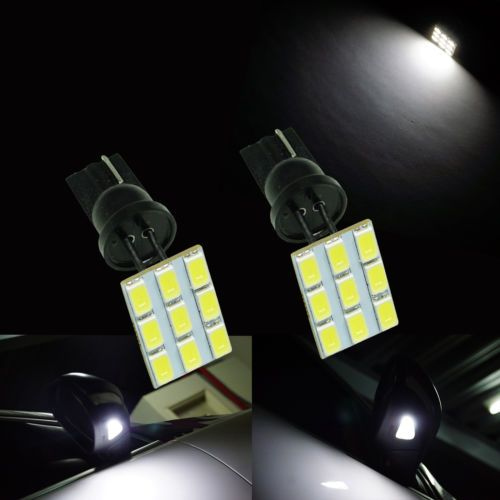 2x-T10-921-5630-9SMD-LED-VW-Side-Wing-Door-Under-Mirror-Puddle-Light-Lamp-Bulb #6000K #White #led5630 #VW