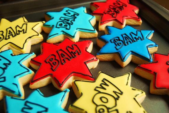John would love these comic book/batman cookies