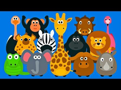 Learning Wild Animals for Kids - Teaching Animals Video for Toddlers - Stacking Tsum Tsum Style - YouTube