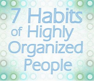 7 habits of organized people