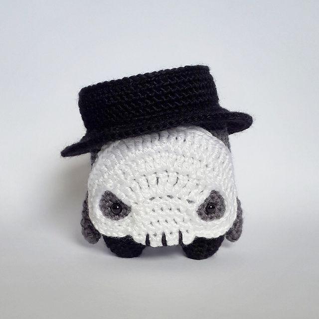 Free Amigurumi Skull Pattern : skull Diego made by Fay / crochet pattern by lalylala ...