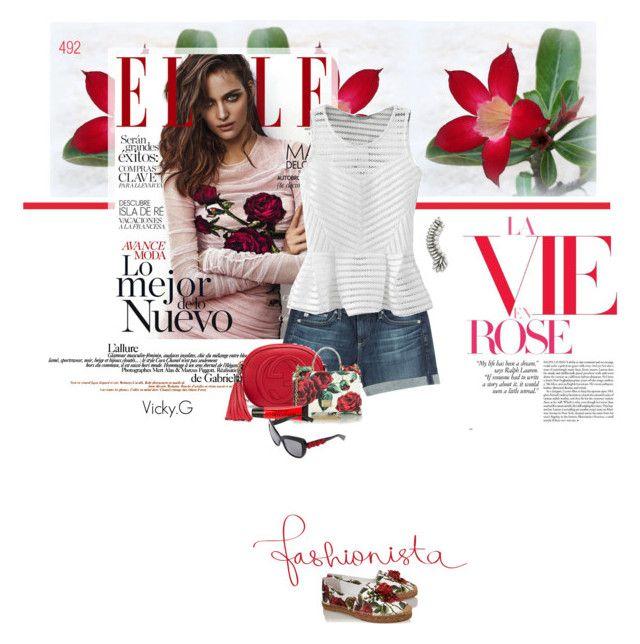 """""""Set # 492 / Dolce & Gabbana Embellished rose-print espadrilles"""" by vassiliki-g on Polyvore"""