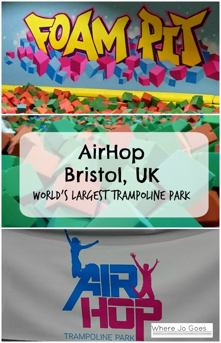 Air Hop Trampoline Park Bristol England UK Great Britain Family Friendly UK Places to visit UK UK attractions with kids Days out UK