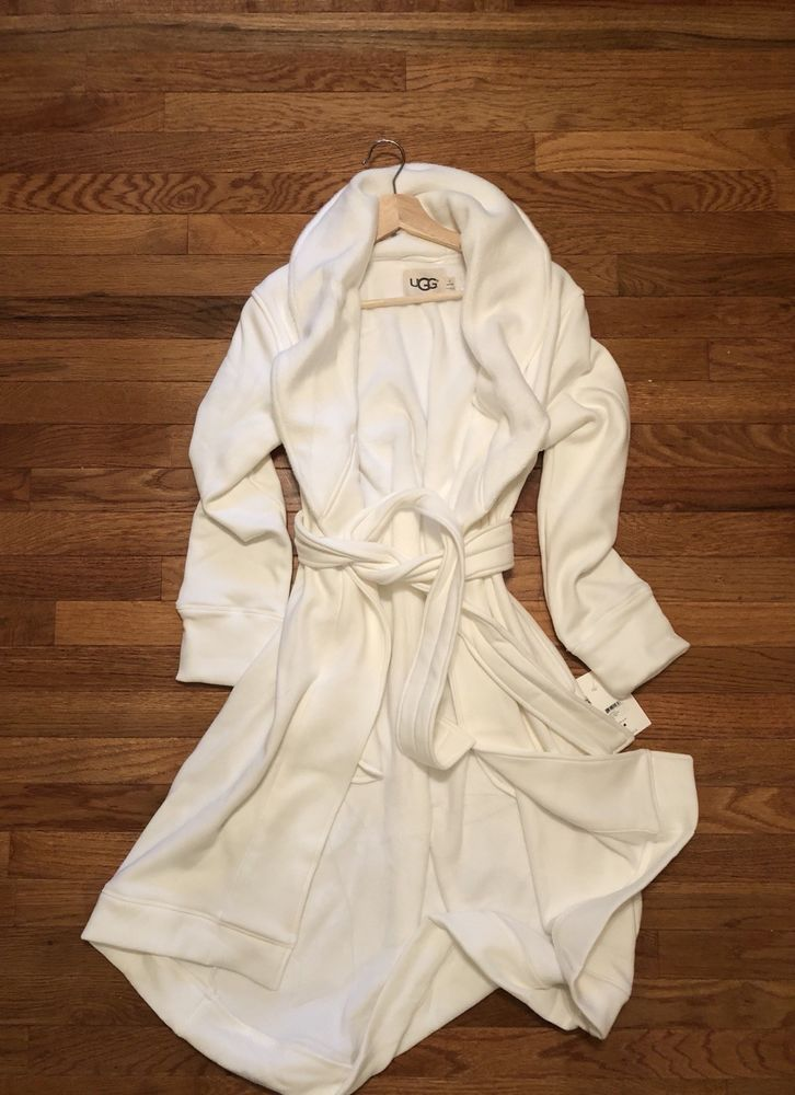 7c626f8734 UGG DUFFIELD white cream WOMENS ROBE SIZE medium NEW  fashion  clothing   shoes