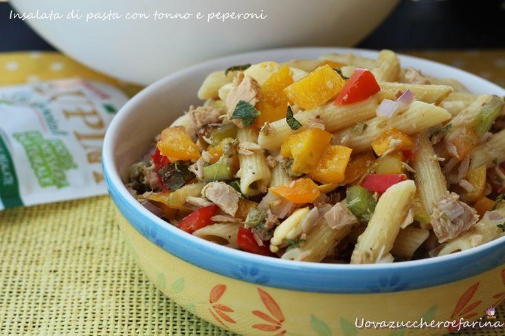 insalata di pasta con tonno e peperoni