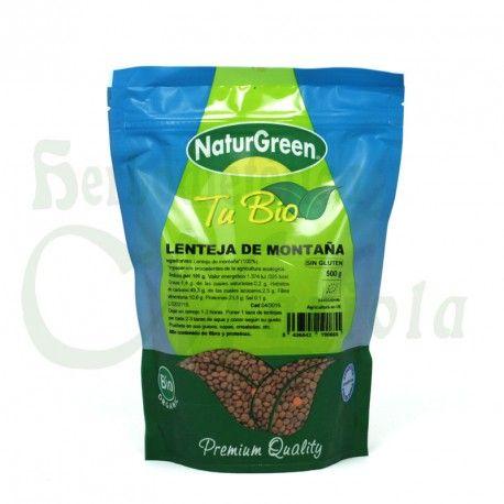 Naturgreen, Lenteja de Montaña Tu Bio, proceden de la agricultura ecológica, un alimento con alto contenido en Hierro, hidratos de carbono, vitamina y Minerales