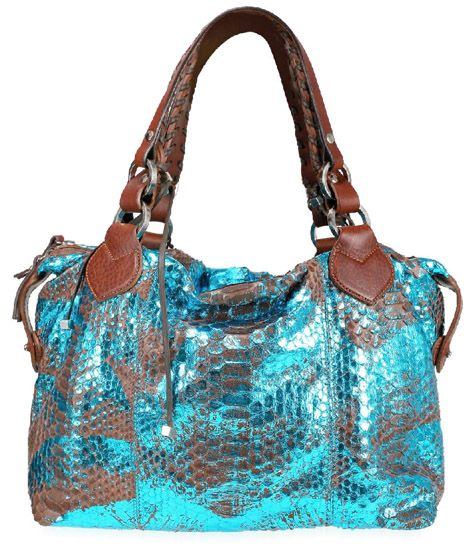 pauric sweeney handbags: limited edition teal blue