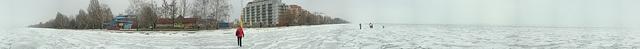360° panorama picture about the Balaton, in Siófok, Hungary.     Siófok,