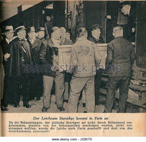 Affaire Stavisky-1934-le cercueil de Stavisky