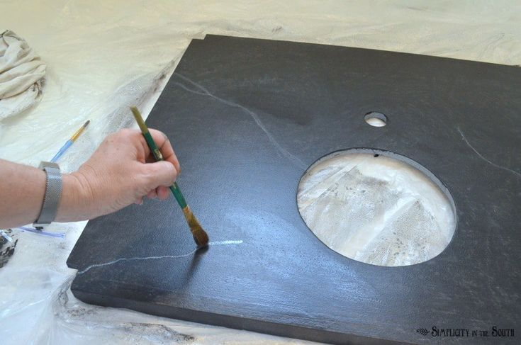 DIY Soapstone Countertops Using Paint | Soapstone ...
