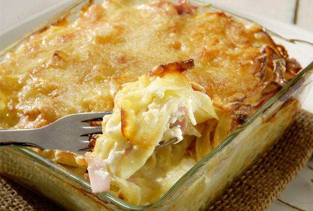 Ταλιατέλες ογκρατέν µε ζαµπόν και τυρί from www.argiro.gr