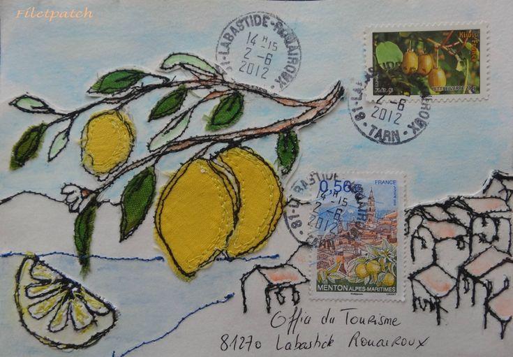 art postal menton filetpatch/mail art