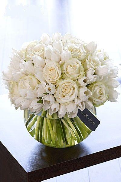 White Floral Arrangement @Melody Patton