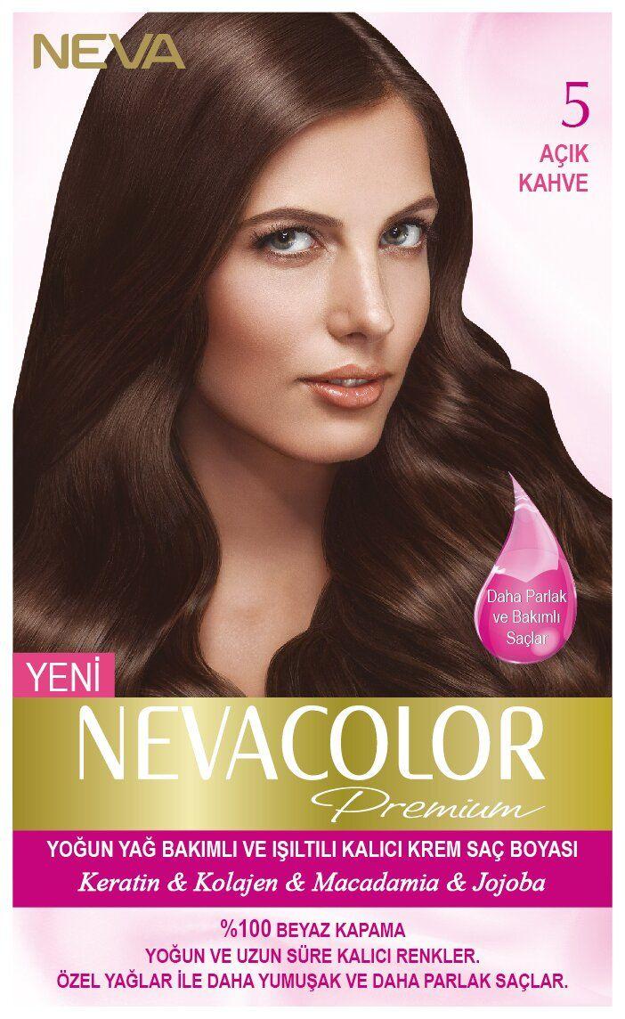 Neva Color Premium Sac Boyasi 5 Acik Kahve Kolajen Sac Sac