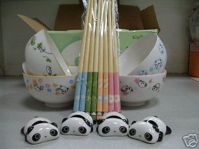tare panda bowl set