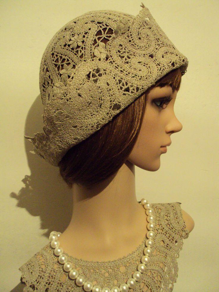 """Larisa Ten. Hat """"12"""" Quick coupler the weaving. Linen, Lurex. 2015. Tashkent."""