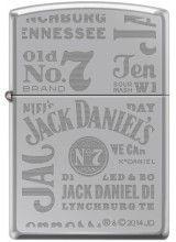 Jack Daniels High Polish Chrome cheap zippo lighter for sale