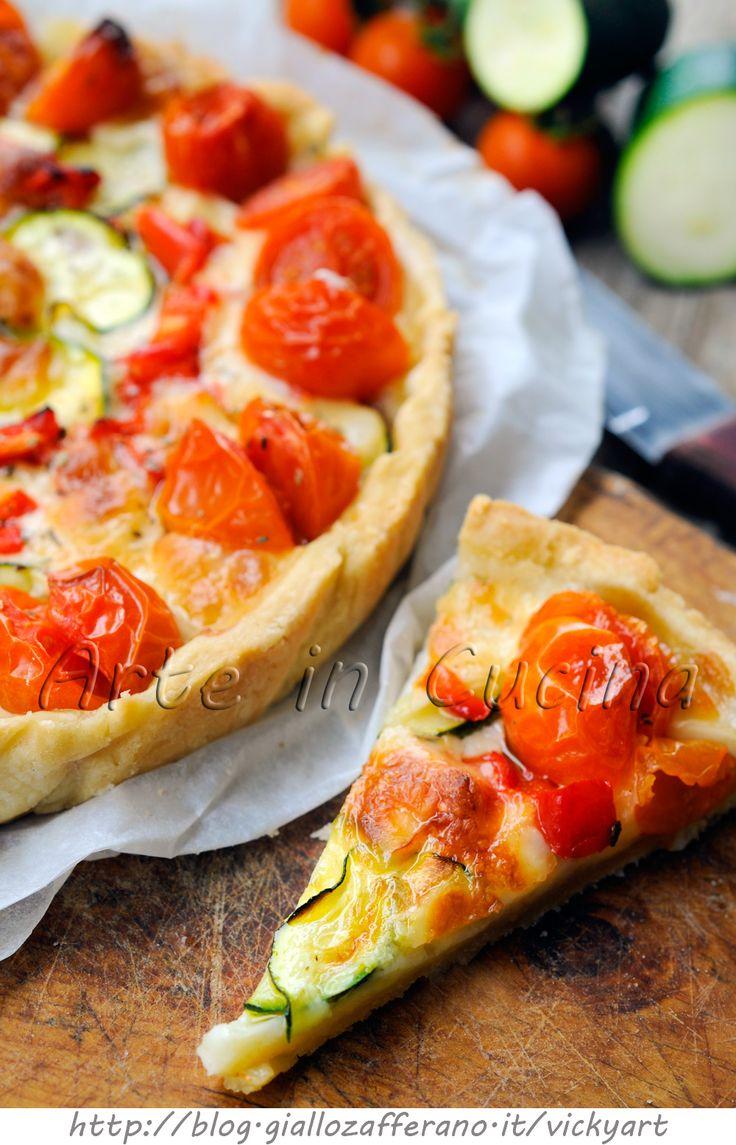 Crostata alle verdure con pasta brisè vickyart arte in cucina