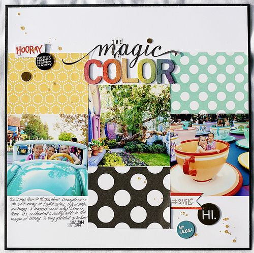 "Magic of Color | This is the first layout in my ""Out of the … 