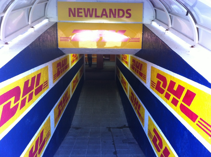 DHL Newlands run-on tunnel. Stormers and Western Province homeground.