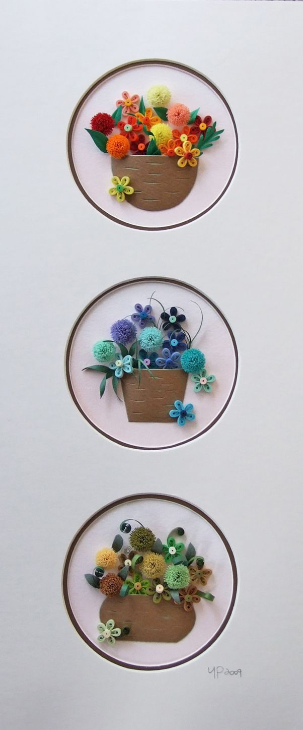 *QUILLING ~ Tree/Flower   quilling park