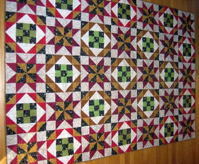 Sew Two Easy Quilt Blocks When You Make a Star-Crossed Nine-Patch Quilt: Make a Star Crossed Nine Patch Quilt