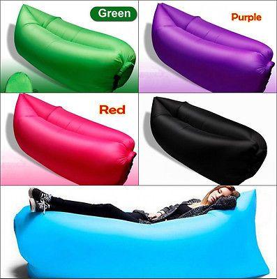Reclining Sofa UK Fast Inflatable Air Sleeping Bag Camping Bed Beach Lamzac Hangout Laybag Sofa