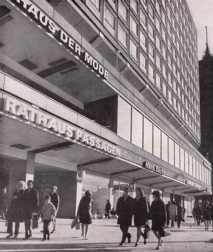 Heinz Graffunder, Wohn - und Geschäftshaus Rathausstraße (Rathauspassagen), 1967-73
