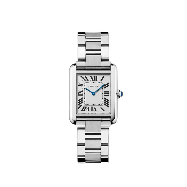 Tank solo watch, small model - Quartz, steel - Fine Timepieces for women - Cartier
