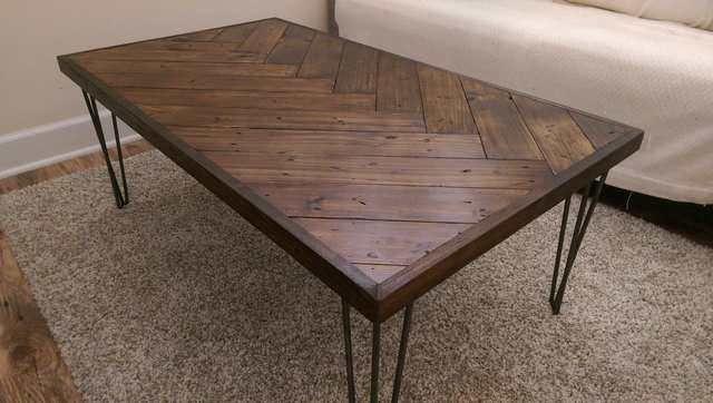 Diy Herringbone Coffee Table Coffee Table Wood Coffee Table Diy Coffee Table
